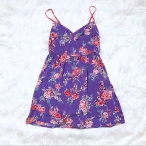 Xhilaration Purple floral dress!
